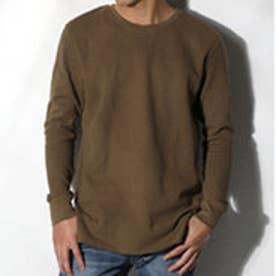 クラシカルエルフ Classical Elf 1枚でも着られるサーマルTシャツ ワッフル生地 長袖 シンプル ベーシック (カーキ)