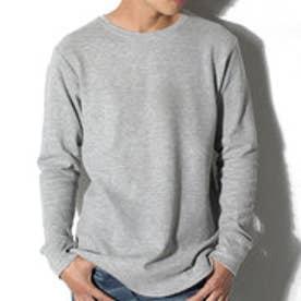 クラシカルエルフ Classical Elf 1枚でも着られるサーマルTシャツ ワッフル生地 長袖 シンプル ベーシック (杢グレー)
