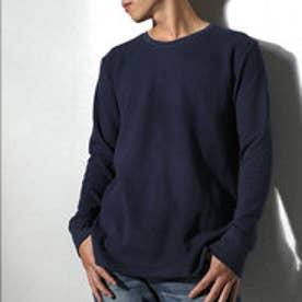 クラシカルエルフ Classical Elf 1枚でも着られるサーマルTシャツ ワッフル生地 長袖 シンプル ベーシック (ネイビー)