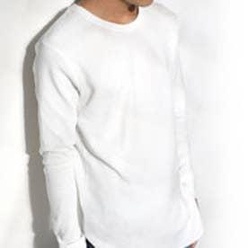 クラシカルエルフ Classical Elf 1枚でも着られるサーマルTシャツ ワッフル生地 長袖 シンプル ベーシック (ホワイト)