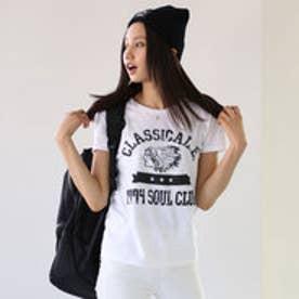 クラシカルエルフ Classical Elf インディアンデザイン古着風アメカジTシャツ (ホワイト)