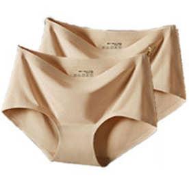 クラシカルエルフ Classical Elf 同色2枚組 シームレスショーツショーツ シームレス 縫い目なし ブラック ベージュ ピンク パープル ブルー cla710043 (ベージュ)