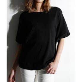 クラシカルエルフ Classical Elf ボリューム袖がかわいいドロップショルダーTシャツ (ブラック)