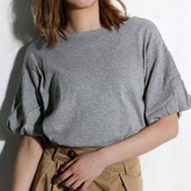 クラシカルエルフ Classical Elf ボリューム袖がかわいいドロップショルダーTシャツ (メランジグレー)