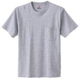 ヘインズ Hanes 【Hanes/ヘインズ】ビーフィー クルーネック半袖ポケットTシャツ (ヘザーグレー【060】)