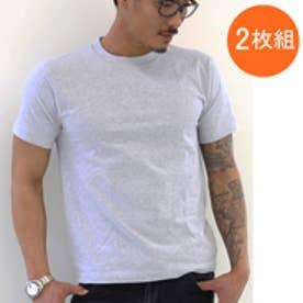 ヘインズ Hanes 【Hanes/ヘインズ】tシャツ 2枚組クルーネック(丸首)Tシャツ (グレー【060】)