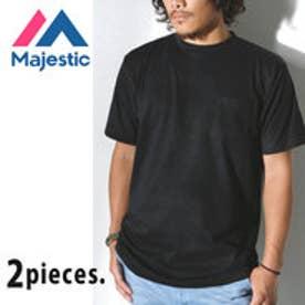 マジェスティック MAJESTIC Majestic CREW NECK ポケット付きTシャツ パックTシャツ 2枚組 (ブラック)