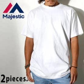 マジェスティック MAJESTIC Majestic マジェスティック クルーネック パックTシャツ 2枚組 (ホワイト)