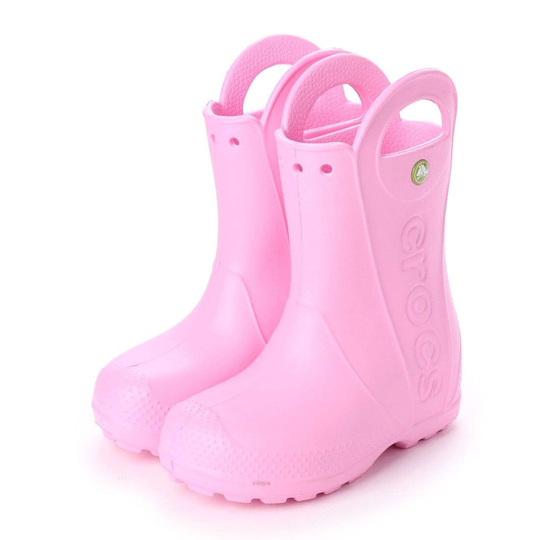 68cad35751b30 クロックス crocs 12803 ハンドルイット キッズ レインブーツ (カーネーション) -靴&ファッション通販 ロコンド〜自宅で試着、気軽に返品