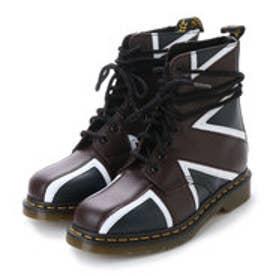 ドクターマーチン Dr.Martens パスカル ブリット 8ホール ブーツ (ネイビー×オックスブラッド×ホワイト)