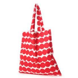マリメッコ Marimekko ファブリックバッグ トートバッグ エコバッグ (ラシィマットレッド)