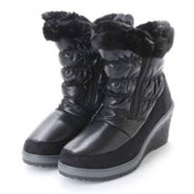 ニューイタリア NEW ITALIA ウェッジソール アンクル 防寒ブーツ (ブラック)