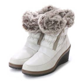 ニューイタリア NEW ITALIA ウェッジソール アンクル 防寒ブーツ (アイボリー)