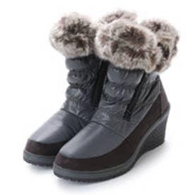 ニューイタリア NEW ITALIA ウェッジソール アンクル 防寒ブーツ (チャコール)