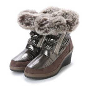 ニューイタリア NEW ITALIA ウェッジソール アンクル 防寒ブーツ (ピューター)