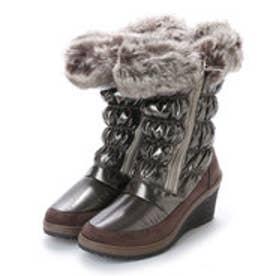 ニューイタリア NEW ITALIA ウェッジソール ダブル ジッパー 防寒ブーツ (ピューター)