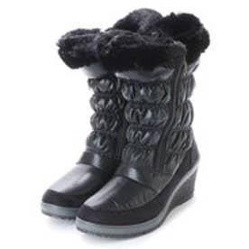 ニューイタリア NEW ITALIA ウェッジソール ダブル ジッパー 防寒ブーツ (ブラック)