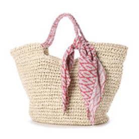 クーコ COOCO スカーフ付サマートートバッグ (ナチュラル)