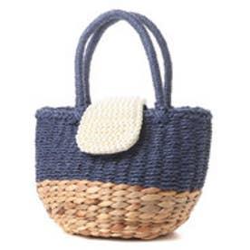 クーコ COOCO パールカブセミニトートバッグ (ブルー)