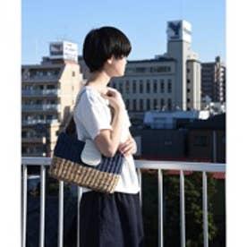 クーコ COOCO パールカブセ3WAYクラッチバッグ (ブルー)