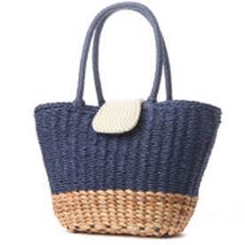 クーコ COOCO パールカブセトートバッグ (ブルー)