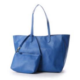 クーコ COOCO ポーチ付きPUA4トートバッグ (ブルー)