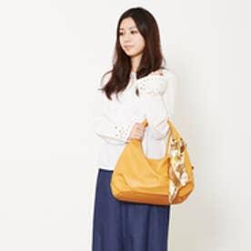 クーコ COOCO スカーフ付きPUクリ手バッグ (キャメル)