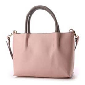 クーコ COOCO ツマミハンドル2WAYミニトートバッグ (ピンク)