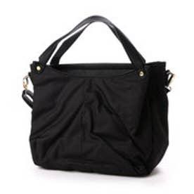 クーコ COOCO ナイロン風2WAYトートバッグ【A4サイズ対応】  (ブラック)