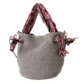 クーコ COOCO 生地ハンドルロープトートバッグ【B5サイズ対応】 (グレー)