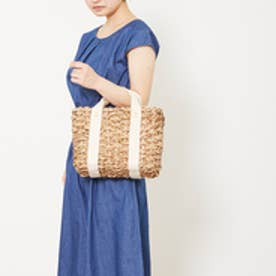 クーコ COOCO ストライプ巾着かごバッグ (オフホワイト)