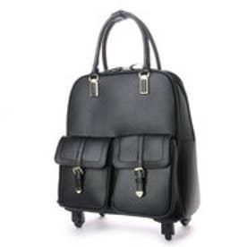 クーコ COOCO ダブルポケット付きキャリーカート (ブラック)