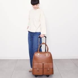 クーコ COOCO ダブルポケット付きキャリーカート (ブラウン)