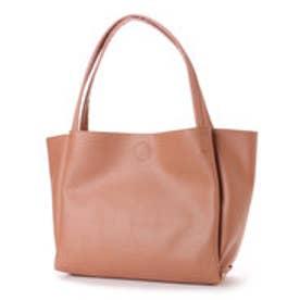 クーコ COOCO フェイクレザーシンプルトートバッグ【A4サイズ対応】 (ピンク)