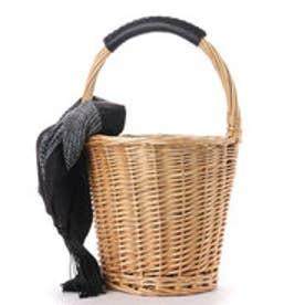 クーコ COOCO スカーフ付きかごバッグ (ナチュラル)