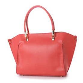クーコ COOCO ハンドル金具フェイクレザー2WAYトートバッグ【A4サイズ対応】 (ピンク)