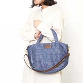 クーコ COOCO デニム風キルティング2WAYトートバッグ (ブルー)