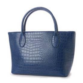 クーコ COOCO フェイクレザークロコ型押しトートバッグ【A4サイズ対応】 (ブルー)