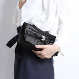 クーコ COOCO リボンフラップパーティバッグ (ブラック)