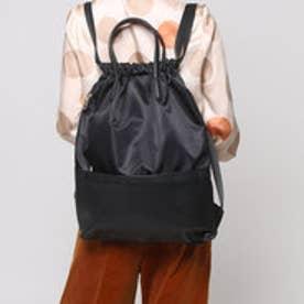 クーコ COOCO 巾着2WAYリュック【A4サイズ対応】 (ブラック)