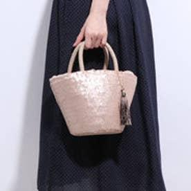 クーコ COOCO スパンコールバケツ型かごバッグ (ピンク)