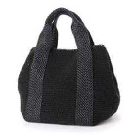 クーコ COOCO 紐編みかごトートバッグ (ブラック)