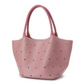 クーコ COOCO スターパンチングトートバッグ (ピンク)
