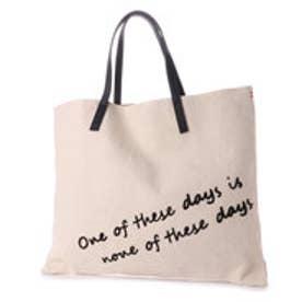 クーコ COOCO 刺繍ロゴ入りトートバッグ【A4サイズ対応】 (オフホワイト)