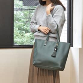 クーコ COOCO タッセルチャーム付トートバッグ【A4サイズ対応】 (グリーン)