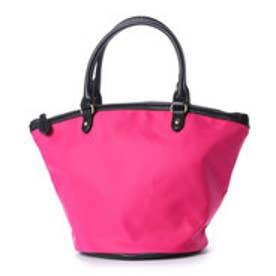 クーコ COOCO ナイロンファスナーミニトートバッグ (ピンク)