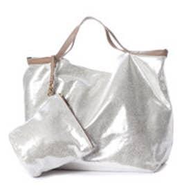 クーコ COOCO スエード風ポケッタブルトートバッグ【A4サイズ対応】 (ゴールド)