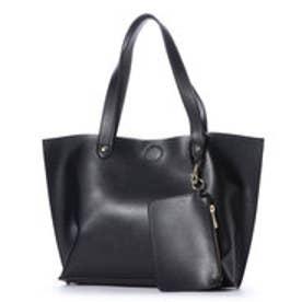 クーコ COOCO ポーチ付リバーシブルトートバッグ【A4サイズ対応】 (ブラック)