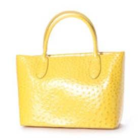 クーコ COOCO エナメルオーストリッチ型押フェイクレザートートバッグ【A4サイズ対応】 (イエロー)