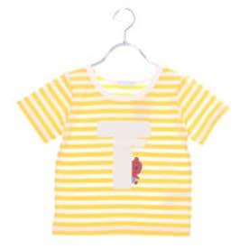 アースミュージックアンドエコロジー earth music&ecology TINNY ひょっこりボーダーTシャツ (Yellow)